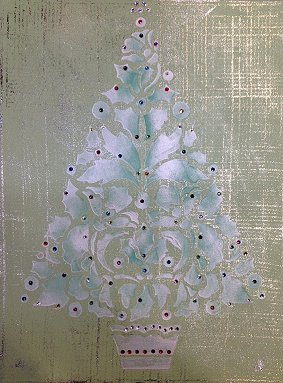 Sparkling Christmas Canvas Art